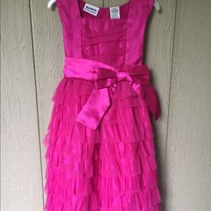 Blueberi Blvd. Pink Teared Ruffle Party Dress 6X